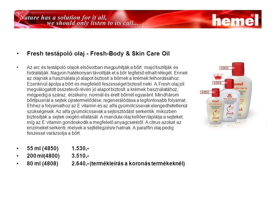 Fresh testápoló olaj - Fresh-Body & Skin Care Oil Az arc és testápoló olajok elsősorban megpuhítják a bőrt, majd tisztítják és hidratálják.