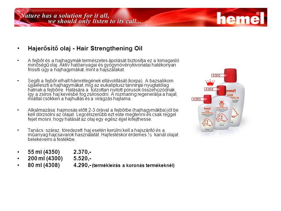 Hajerősítő olaj - Hair Strengthening Oil A fejbőr és a hajhagymák természetes ápolását biztosítja ez a kimagasló minőségű olaj.