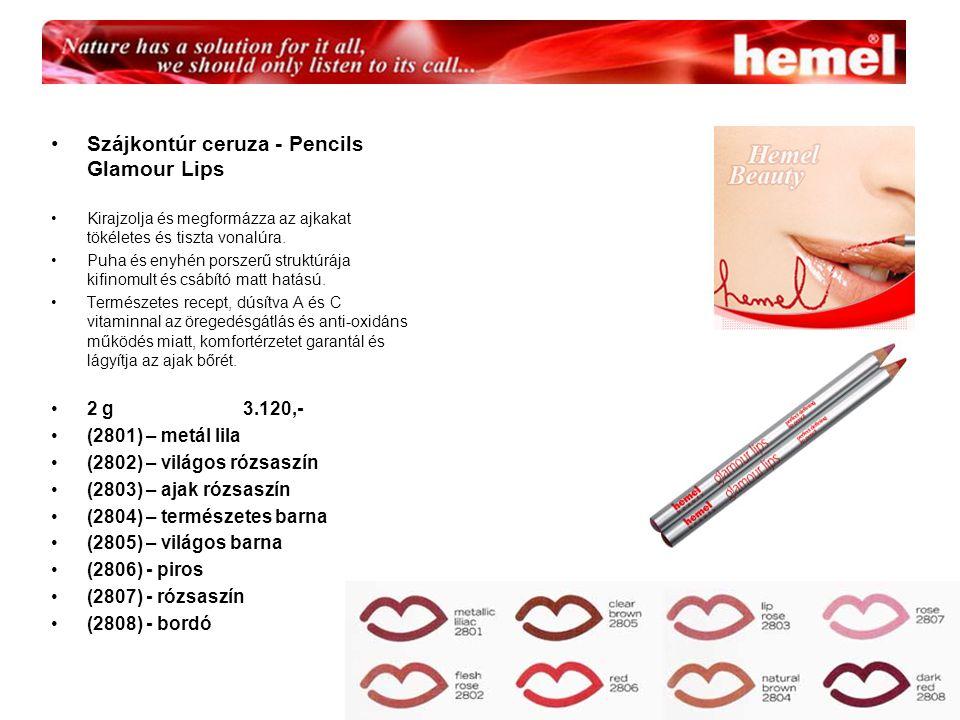 Szájkontúr ceruza - Pencils Glamour Lips Kirajzolja és megformázza az ajkakat tökéletes és tiszta vonalúra.