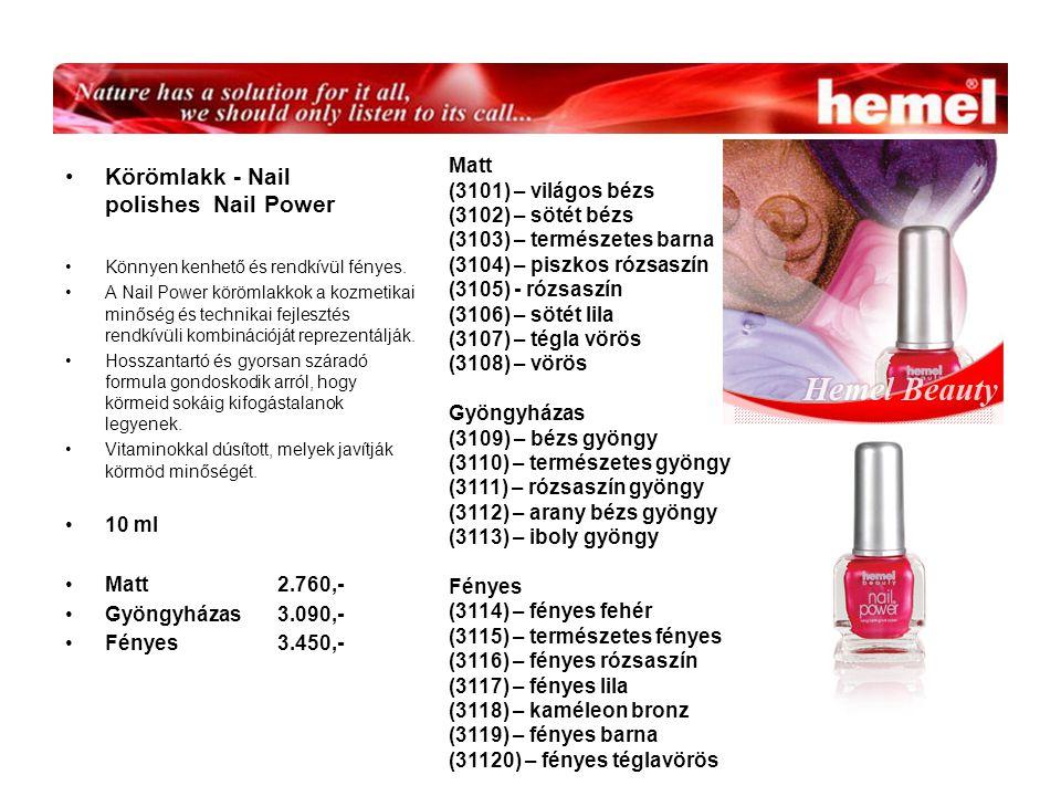 Körömlakk - Nail polishes Nail Power Könnyen kenhető és rendkívül fényes.