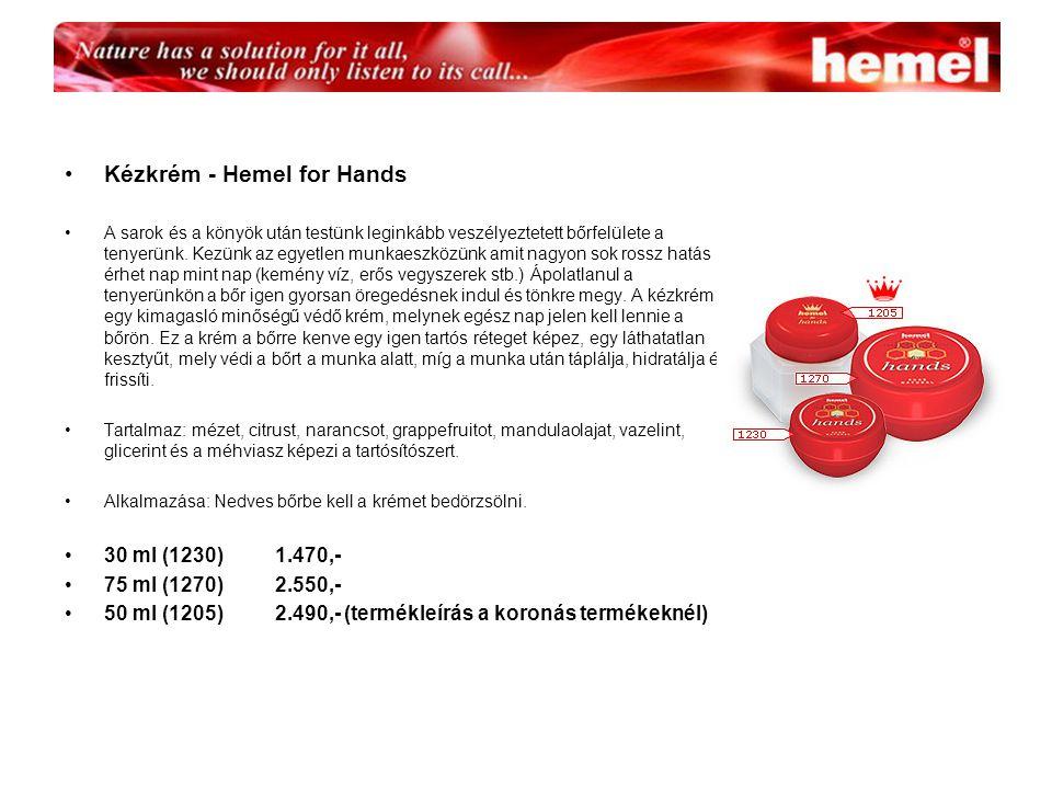 Kézkrém - Hemel for Hands A sarok és a könyök után testünk leginkább veszélyeztetett bőrfelülete a tenyerünk.