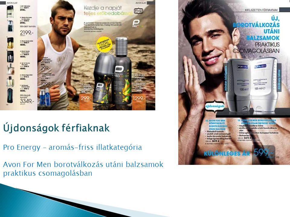 Újdonságok férfiaknak Pro Energy – aromás-friss illatkategória Avon For Men borotválkozás utáni balzsamok praktikus csomagolásban