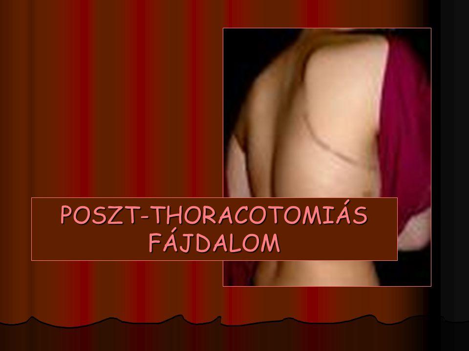 POSTMASTECTOMIAS FÁJDALOM SY. LR hypersensib. a fájdalomra – a sérült sens.