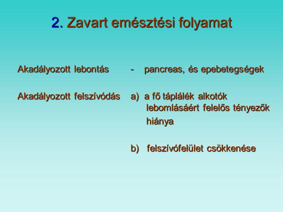 1. Fertőzések - gyomorHelicobacter pylori - nyelőcső gombás fertőzés - immunkompromitált egyén - vékonybél vékonybél kontamináció -VastagbélE.Coli, Sa