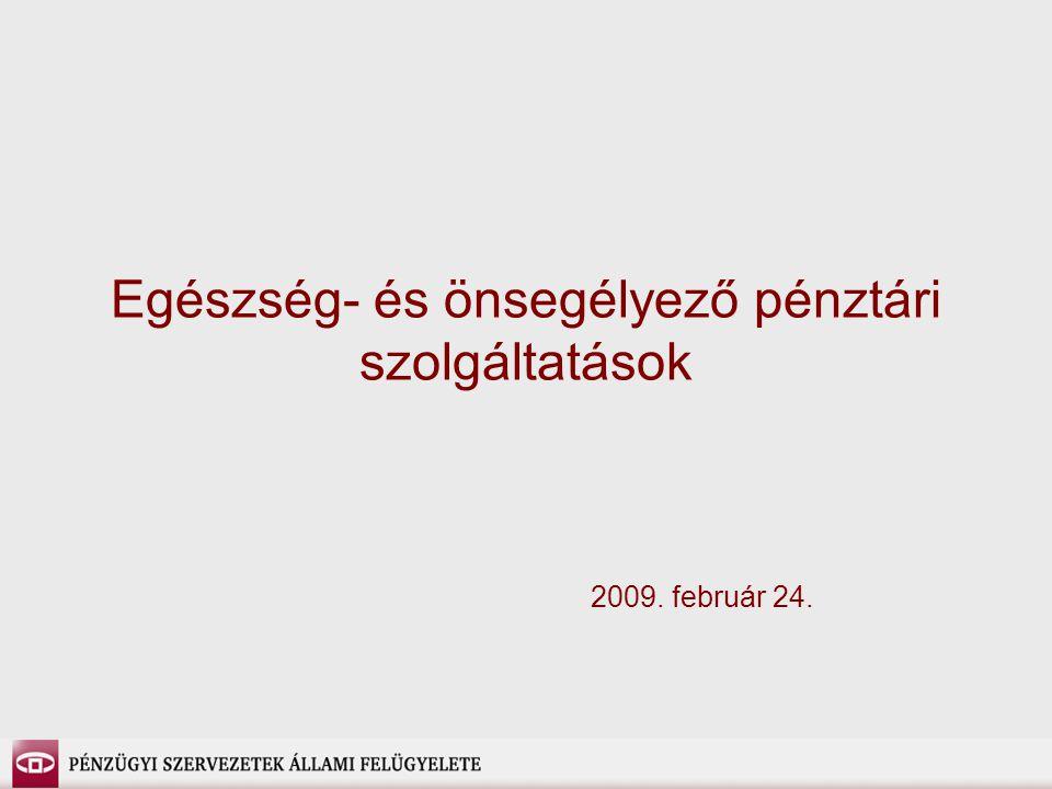 Egészség- és önsegélyező pénztári szolgáltatások 2009. február 24.