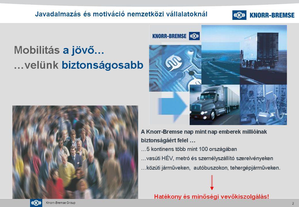 Knorr-Bremse Group 2 Javadalmazás és motiváció nemzetközi vállalatoknál