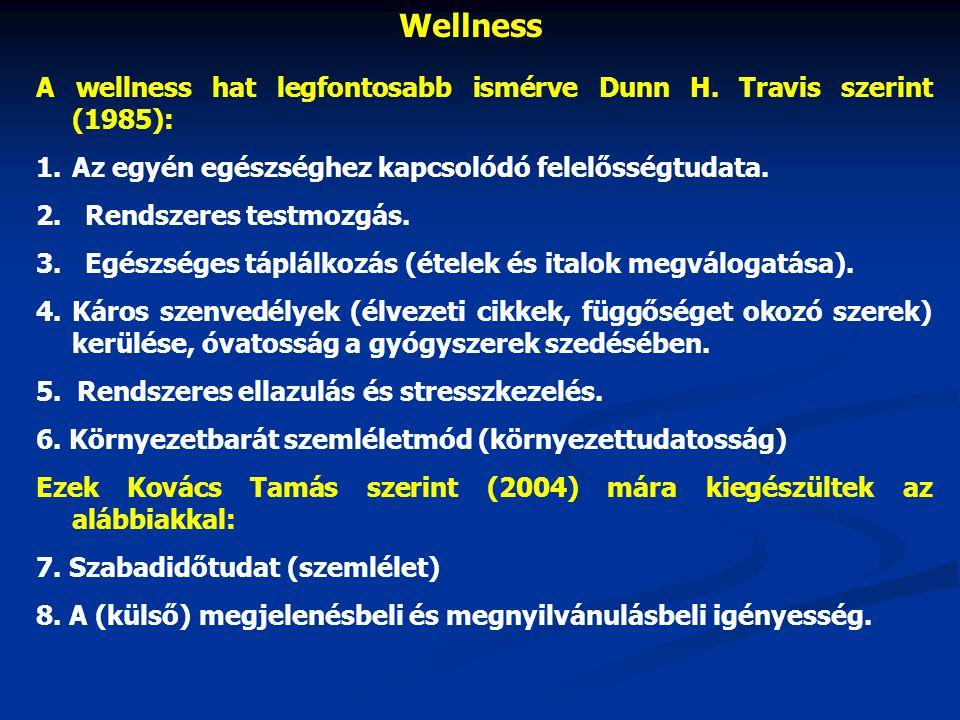 Wellness A wellness hat legfontosabb ismérve Dunn H.