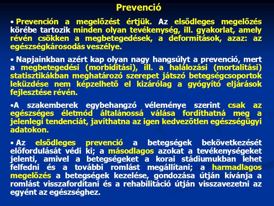 Prevenció Prevención a megelőzést értjük.