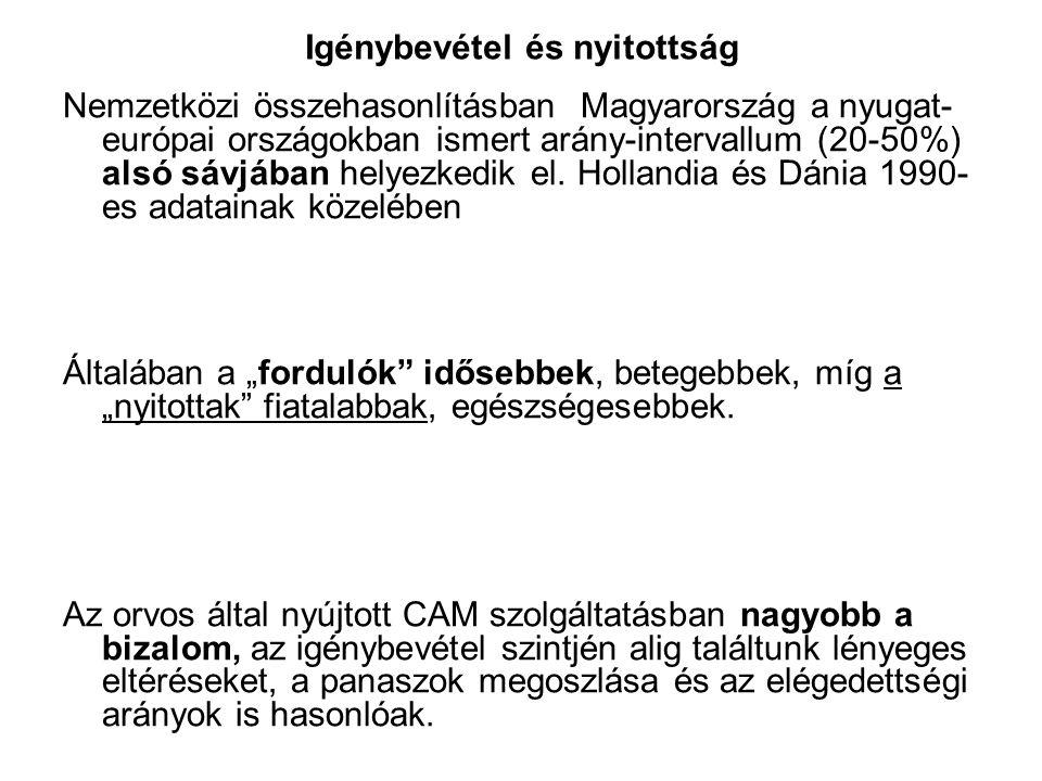 Igénybevétel és nyitottság Nemzetközi összehasonlításban Magyarország a nyugat- európai országokban ismert arány-intervallum (20-50%) alsó sávjában he