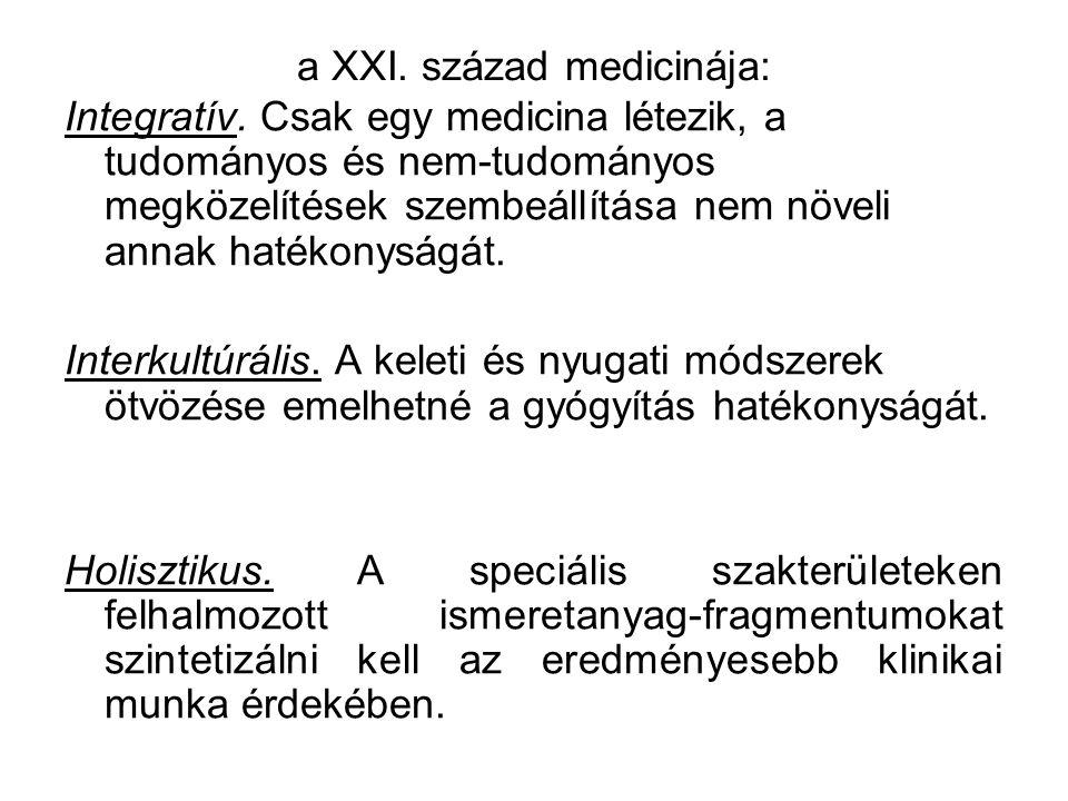 a XXI.század medicinája: Integratív.