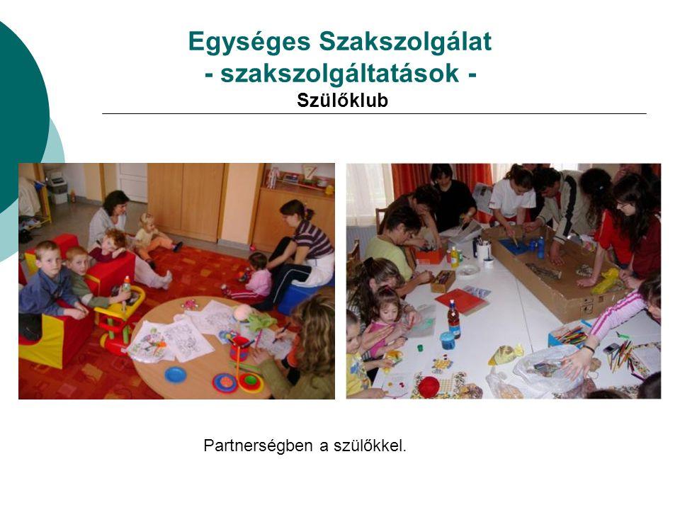 Egységes Szakszolgálat - szakszolgáltatások - Szülőklub Partnerségben a szülőkkel.
