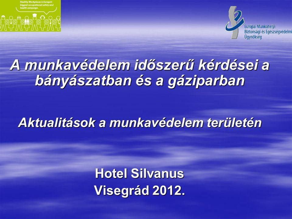 A munkavédelem időszerű kérdései a bányászatban és a gáziparban Aktualitások a munkavédelem területén Hotel Silvanus Visegrád 2012.