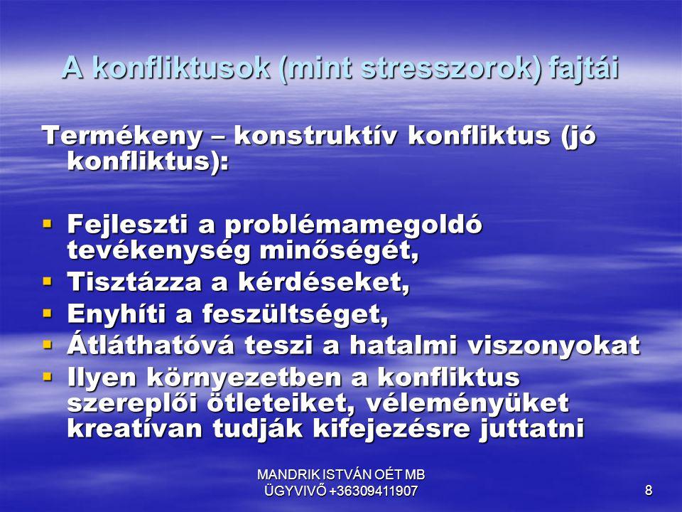 MANDRIK ISTVÁN OÉT MB ÜGYVIVŐ +36309411907 59 KELL – E KERESNI JOBB UTAT.