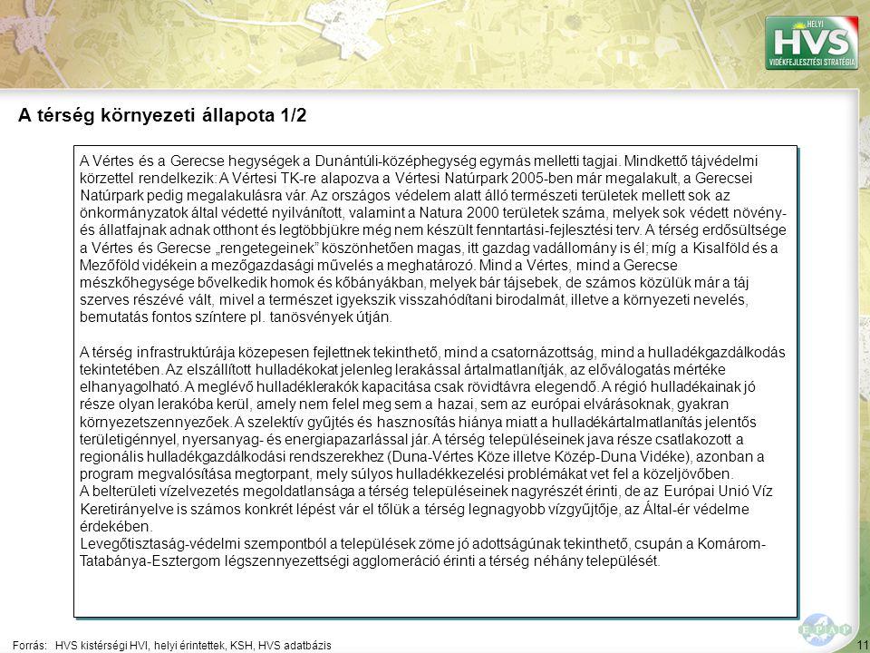 11 A Vértes és a Gerecse hegységek a Dunántúli-középhegység egymás melletti tagjai. Mindkettő tájvédelmi körzettel rendelkezik: A Vértesi TK-re alapoz