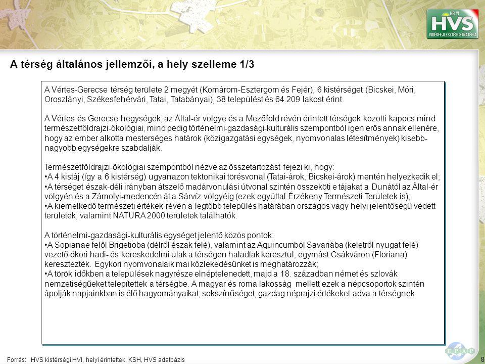 8 A Vértes-Gerecse térség területe 2 megyét (Komárom-Esztergom és Fejér), 6 kistérséget (Bicskei, Móri, Oroszlányi, Székesfehérvári, Tatai, Tatabányai