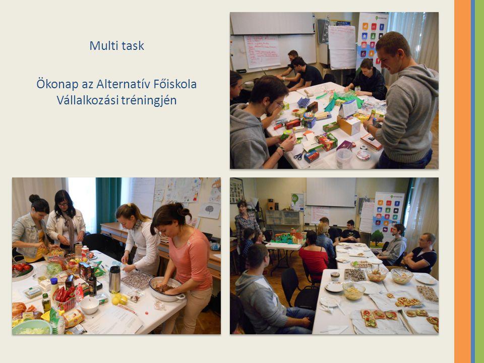 Multi task Ökonap az Alternatív Főiskola Vállalkozási tréningjén