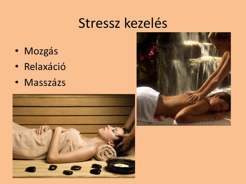 Stressz kezelés Mozgás Relaxáció Masszázs