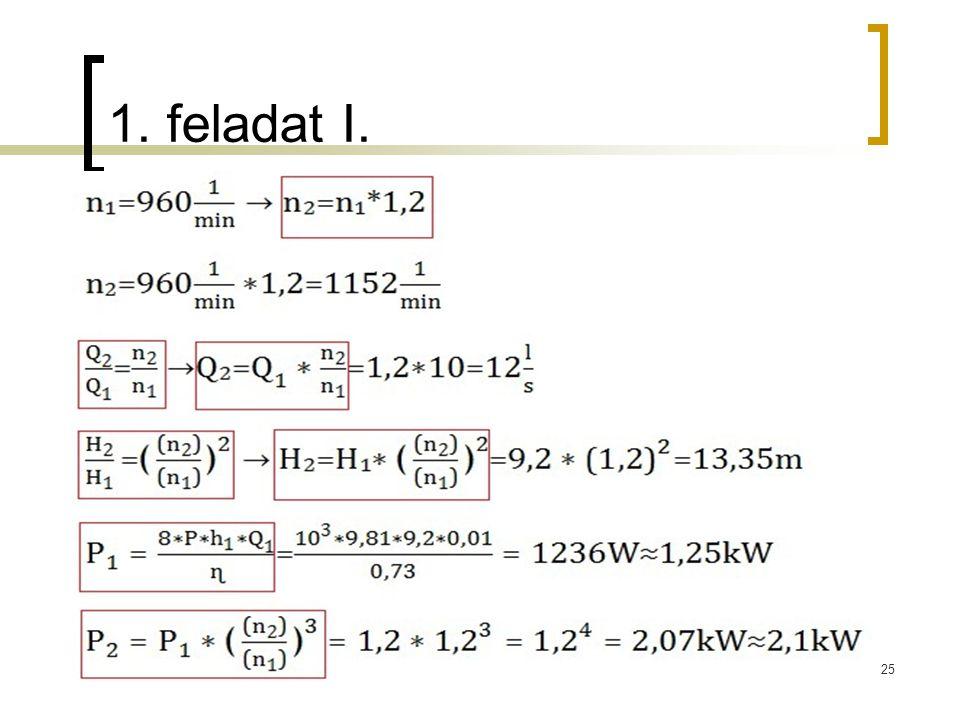 1. feladat I. 25