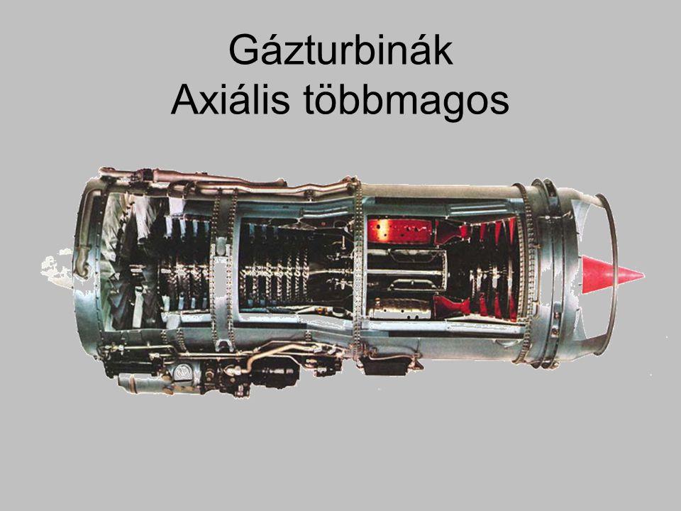 Gázturbinák Axiális többmagos