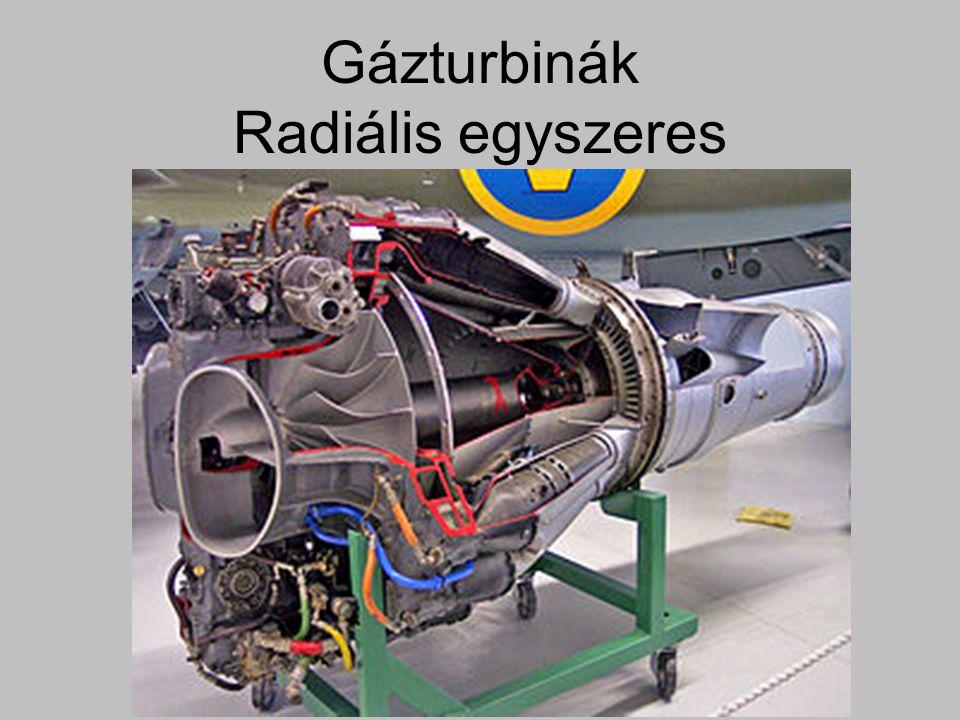 Gázturbinák Radiális egyszeres
