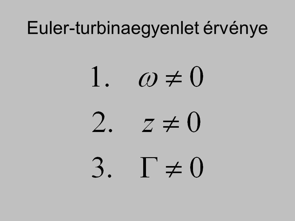 Euler-turbinaegyenlet érvénye
