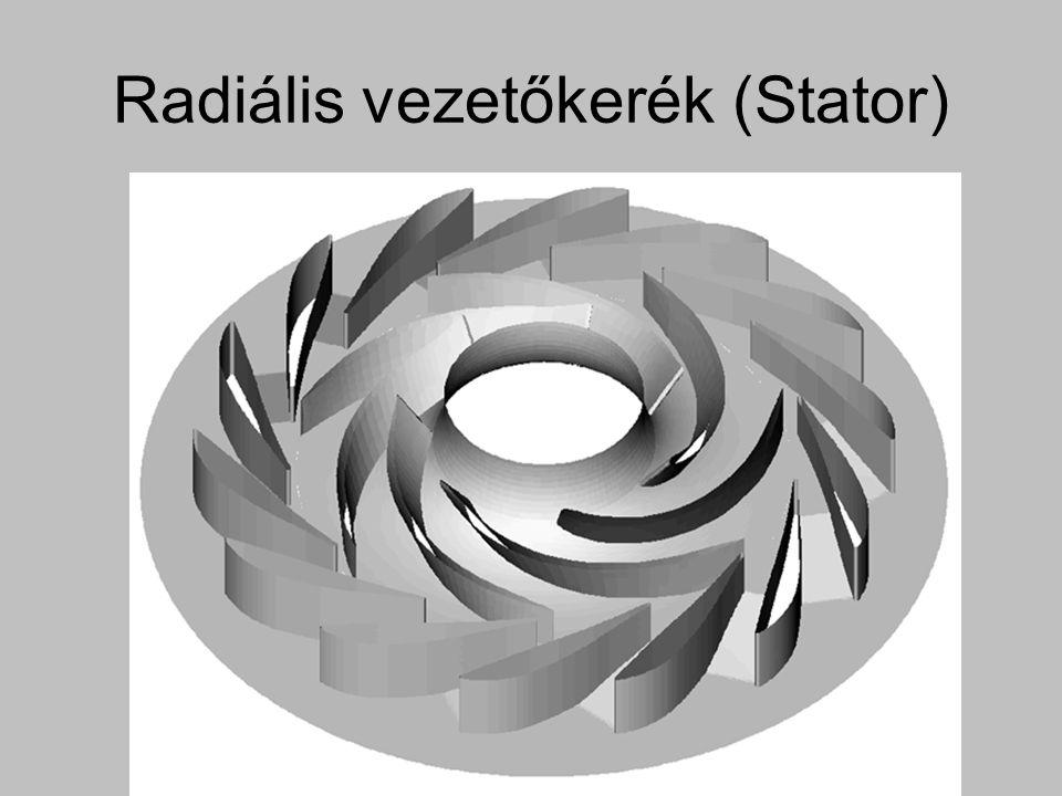 Radiális vezetőkerék (Stator)