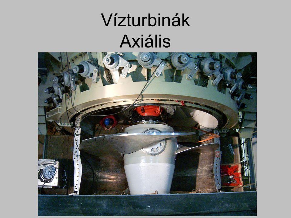 Vízturbinák Axiális