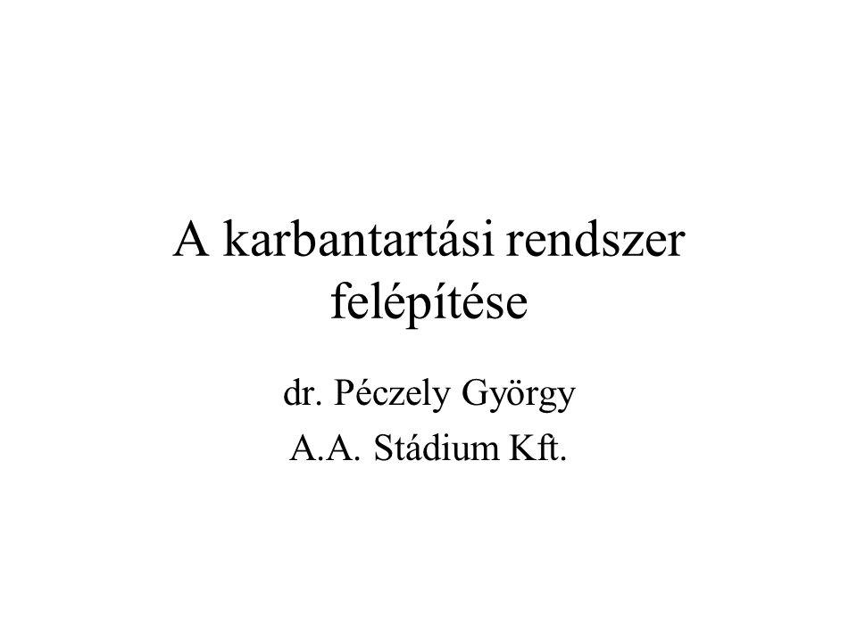 A karbantartási rendszer felépítése dr. Péczely György A.A. Stádium Kft.