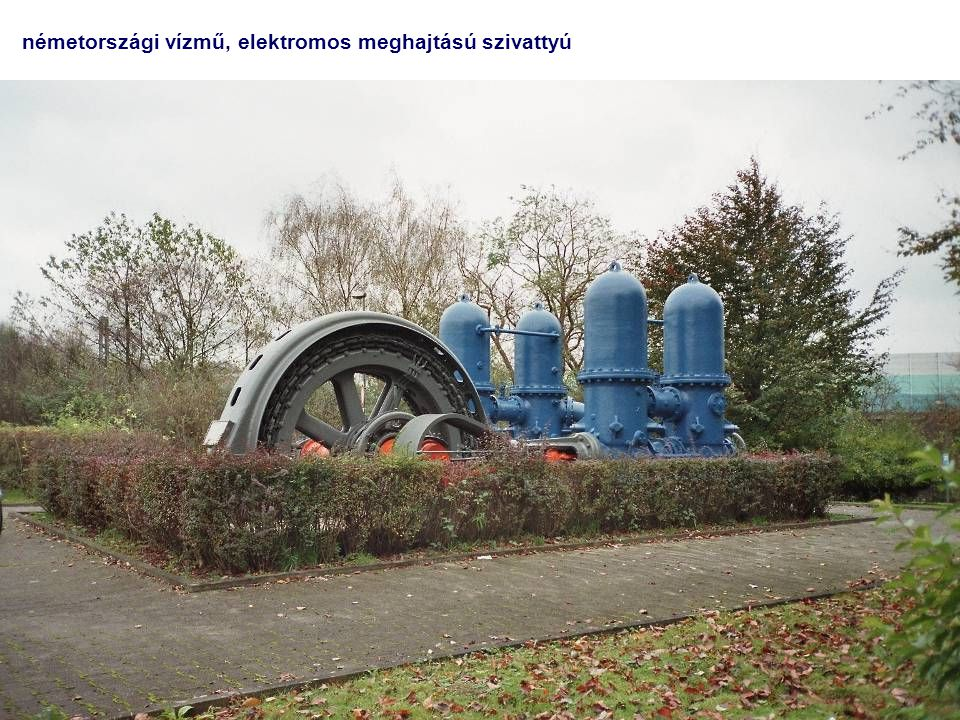 németországi vízmű, elektromos meghajtású szivattyú