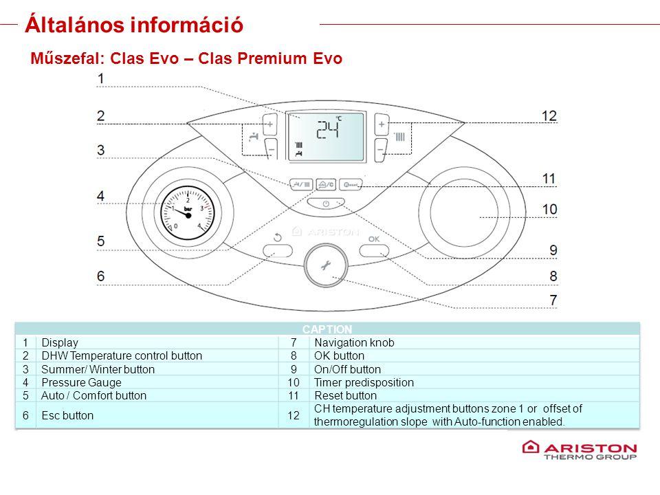 Training manual – GALILEO EVOLUTIONVersione 1V0 18 Műszefal: Clas Evo – Clas Premium Evo Általános információ