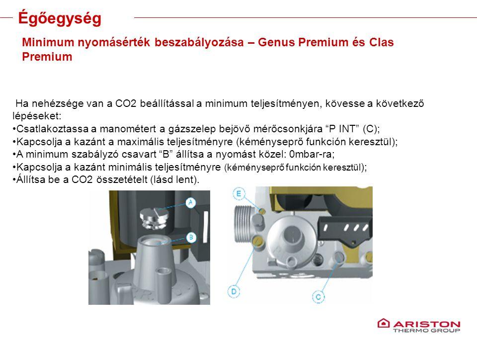 Training manual – GALILEO EVOLUTIONVersione 1V0 Minimum nyomásérték beszabályozása – Genus Premium és Clas Premium Ha nehézsége van a CO2 beállítással