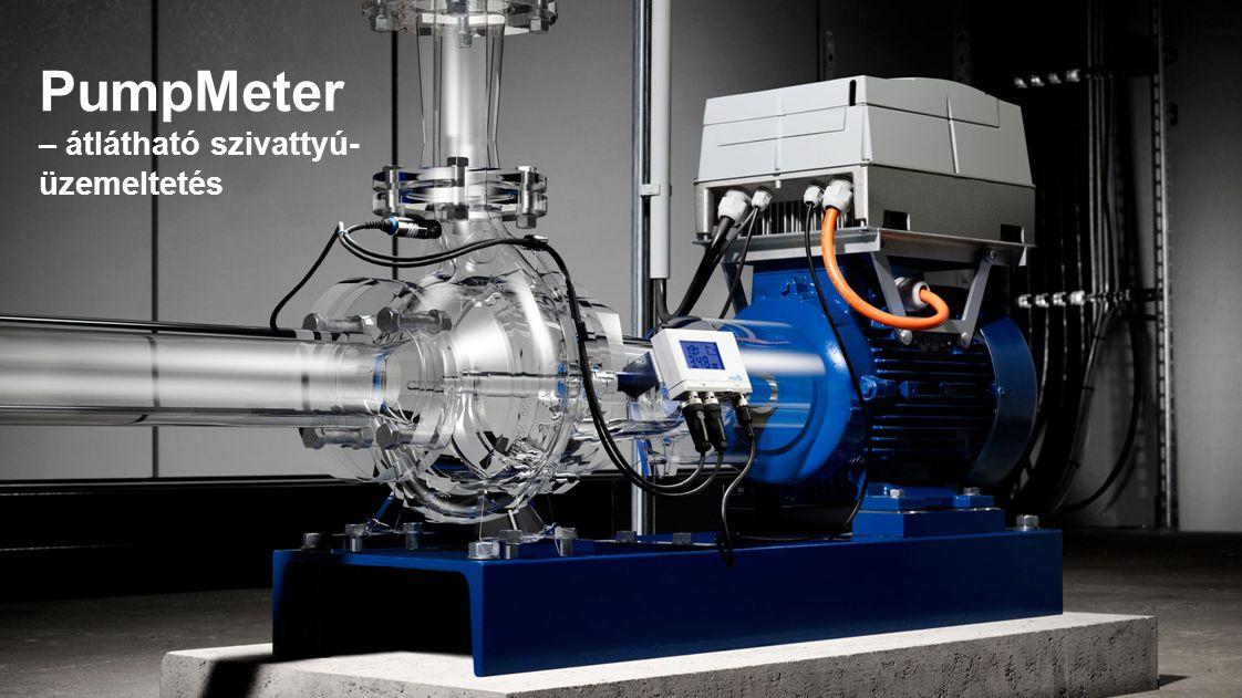 PumpMeter – átlátható szivattyú- üzemeltetés