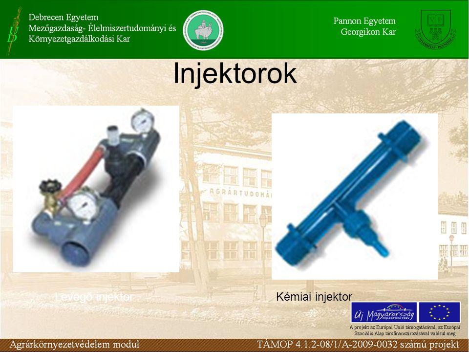 Injektorok Levegő injektorKémiai injektor