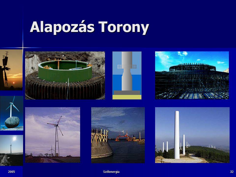 2005Szélenergia32 Alapozás Torony