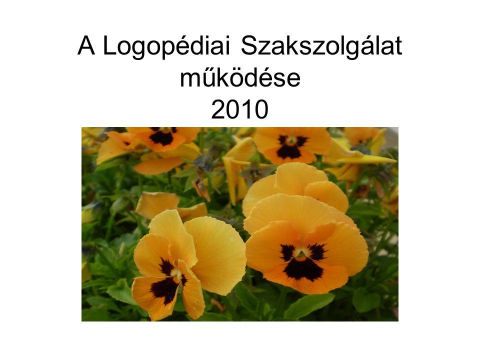 A Logopédiai Szakszolgálat működése 2010