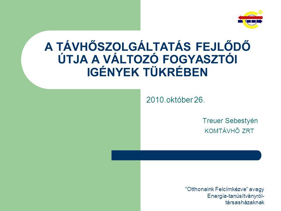 Otthonaink Felcímkézve avagy Energia-tanúsítványról- társasházaknak A TÁVHŐSZOLGÁLTATÁS FEJLŐDŐ ÚTJA A VÁLTOZÓ FOGYASZTÓI IGÉNYEK TÜKRÉBEN 2010.október 26.
