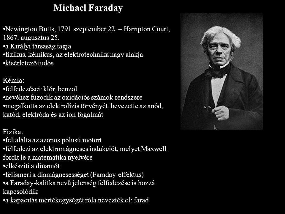 Michael Faraday Newington Butts, 1791 szeptember 22.