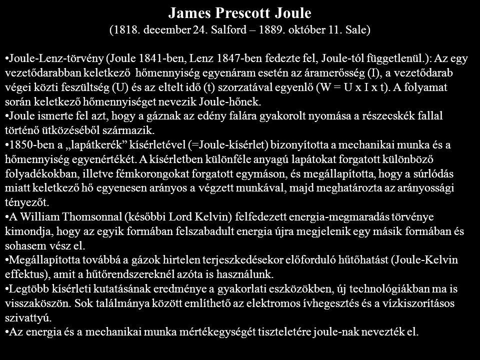 """André-Marie Ampére (1775-1836) 1793-ban apját kivégzik, elveszti érdeklődését az akkori francia forradalom iránt Először magántanárként, majd iskolai fizika tanárként dolgozik Később fizikaprofesszor Eredményei Lyonban kinyomatta a szerencsejátékok új elméletéről szóló könyvét, ami annyira megtetszett Lalande és Delambre matematikusoknak, hogy 1805-ben Párizsba hívták az École Polytechnique repetítorának Megteremtette az elektrodinamika alapjait Ampére-féle gerjesztési törvény Ampére-féle balkéz-szabály """"Ampére az elektrodinamika Newtonja Elektromágnes feltalálása Avogadro-Ampére törvény: minden azonos nyomású és térfogatú gáz ugyanannyi részecskét tartalmaz galvanométer, az elektromos távíró és az elektromágnes feltalálása"""