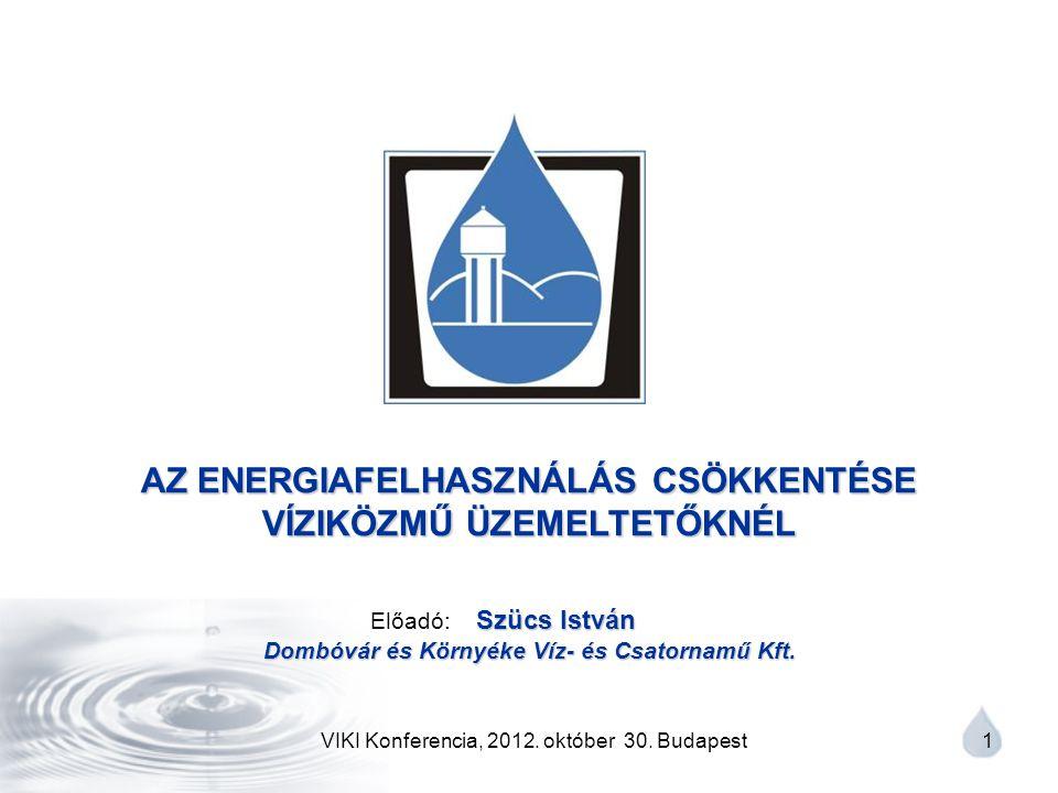 VIKI Konferencia, 2012.október 30. Budapest 2 I.
