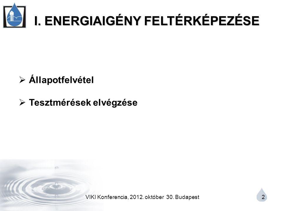 VIKI Konferencia, 2012. október 30. Budapest 2 I.