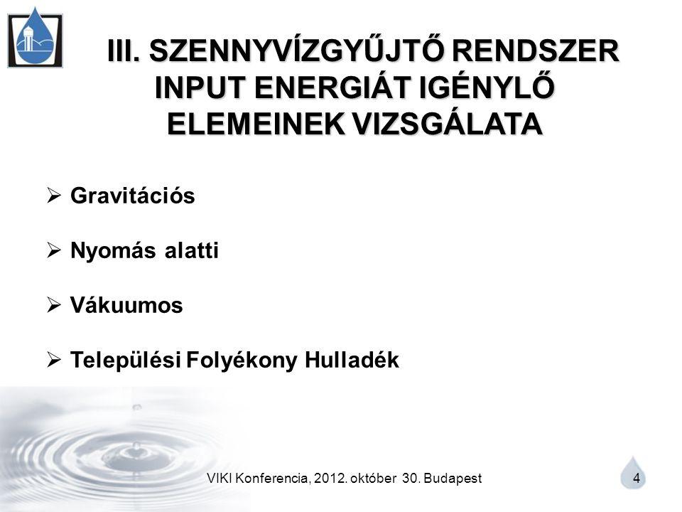 VIKI Konferencia, 2012. október 30. Budapest 4 III.