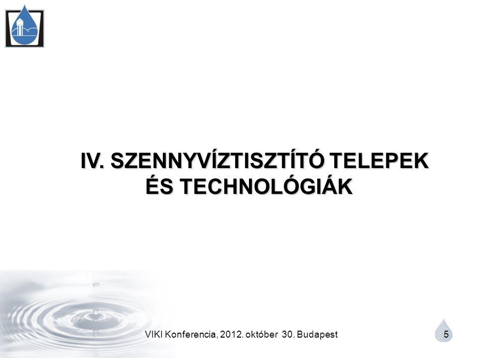 VIKI Konferencia, 2012. október 30. Budapest 5 IV.