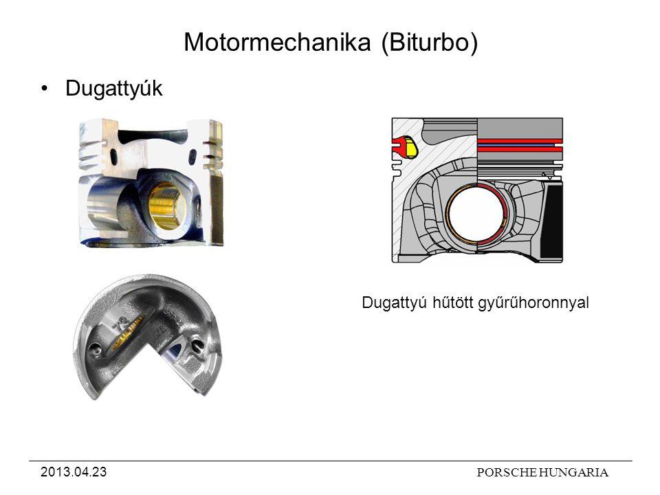 PORSCHE HUNGARIA2013.04.23 Motormechanika (Biturbo) Dugattyú hűtött gyűrűhoronnyal Dugattyúk