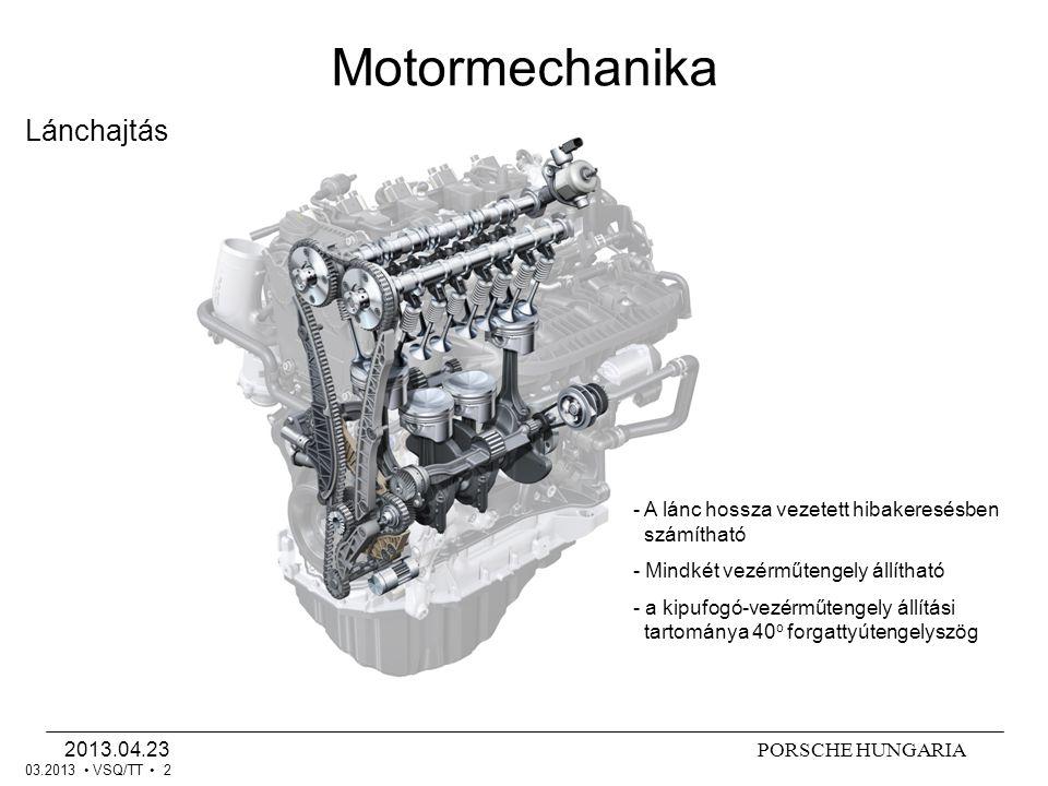 PORSCHE HUNGARIA2013.04.23 VSQ/TT 3 Rezgéskiegyenlítő-tengelyek Motormechanika 03.2013 - Tűgörgős csapágyak - Csökkentett tömeg