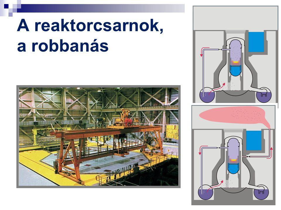 A reaktorcsarnok, a robbanás