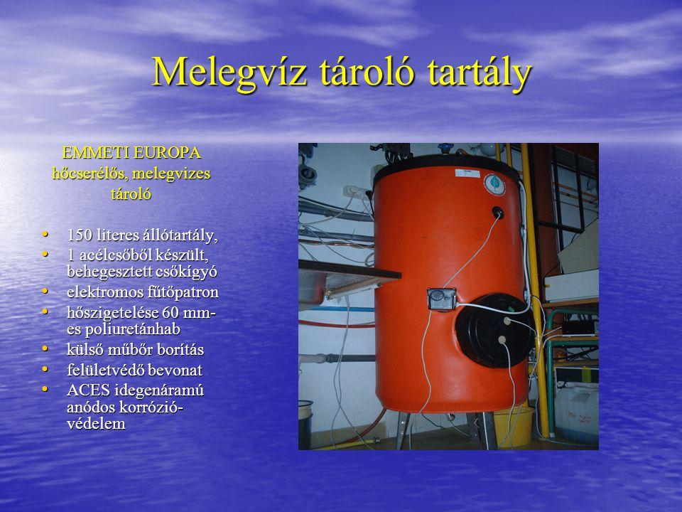 Melegvíz tároló tartály EMMETI EUROPA hőcserélős, melegvizes tároló 150 literes állótartály, 150 literes állótartály, 1 acélcsőből készült, behegeszte