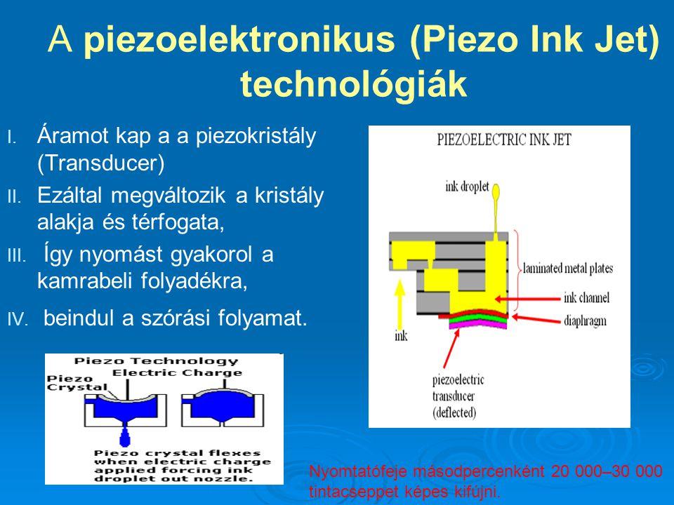 A piezoelektronikus (Piezo Ink Jet) technológiák I.