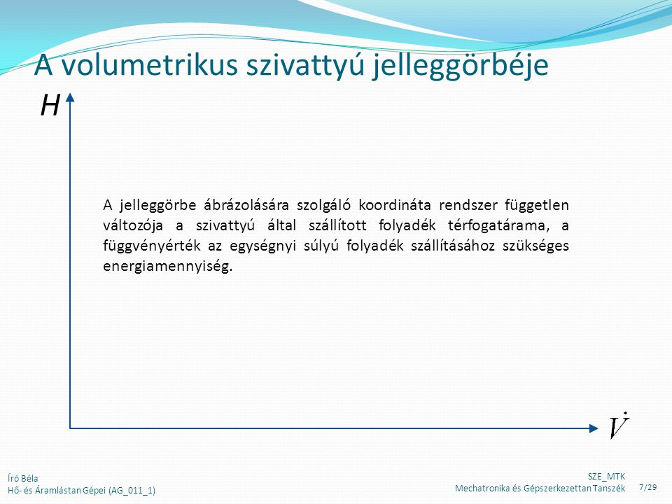 Ellenőrző kérdések (1) 1.Mi a működés alapelve a volumetrikus szivattyúk esetében.
