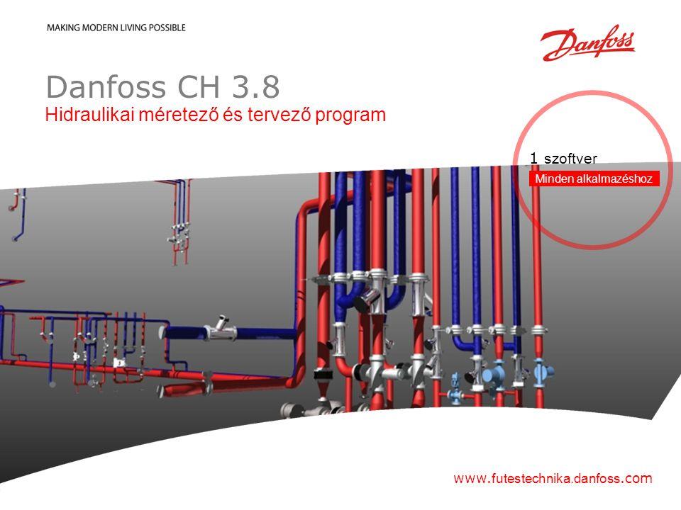 Hydronic Balancing & Control 2012| 1 Danfoss CH 3.8 Hidraulikai méretező és tervező program www.