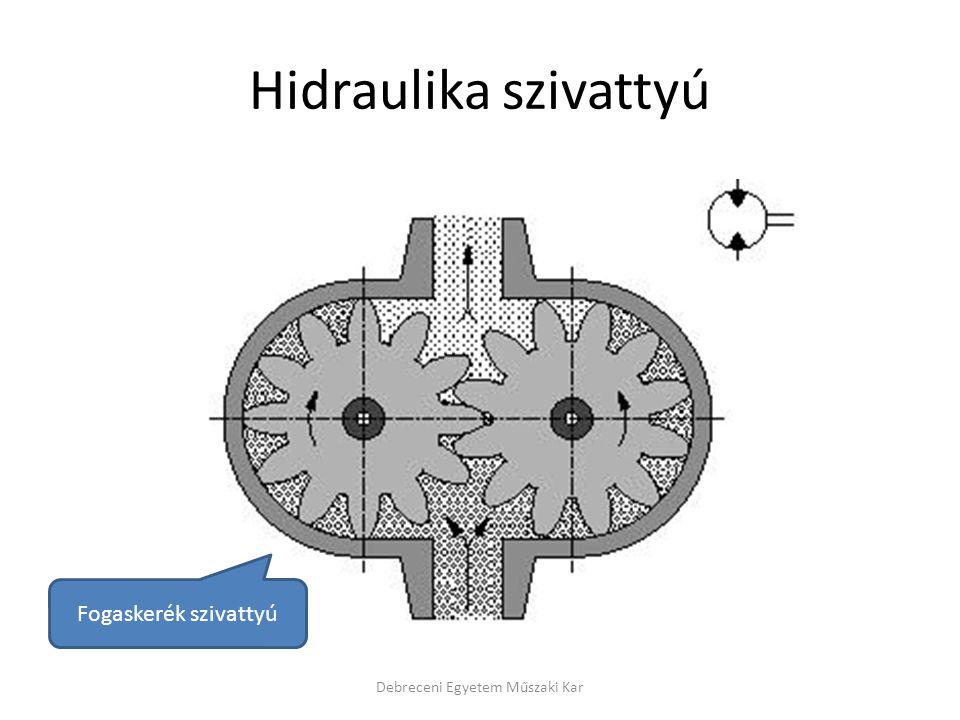 Hidraulika szivattyú Debreceni Egyetem Műszaki Kar Fogaskerék szivattyú